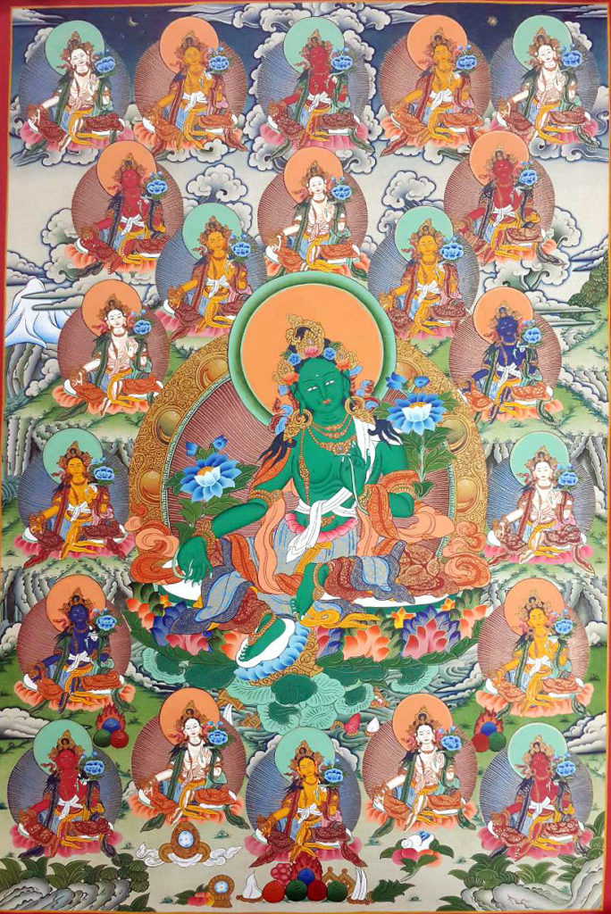 Twenty-one-Taras-painting