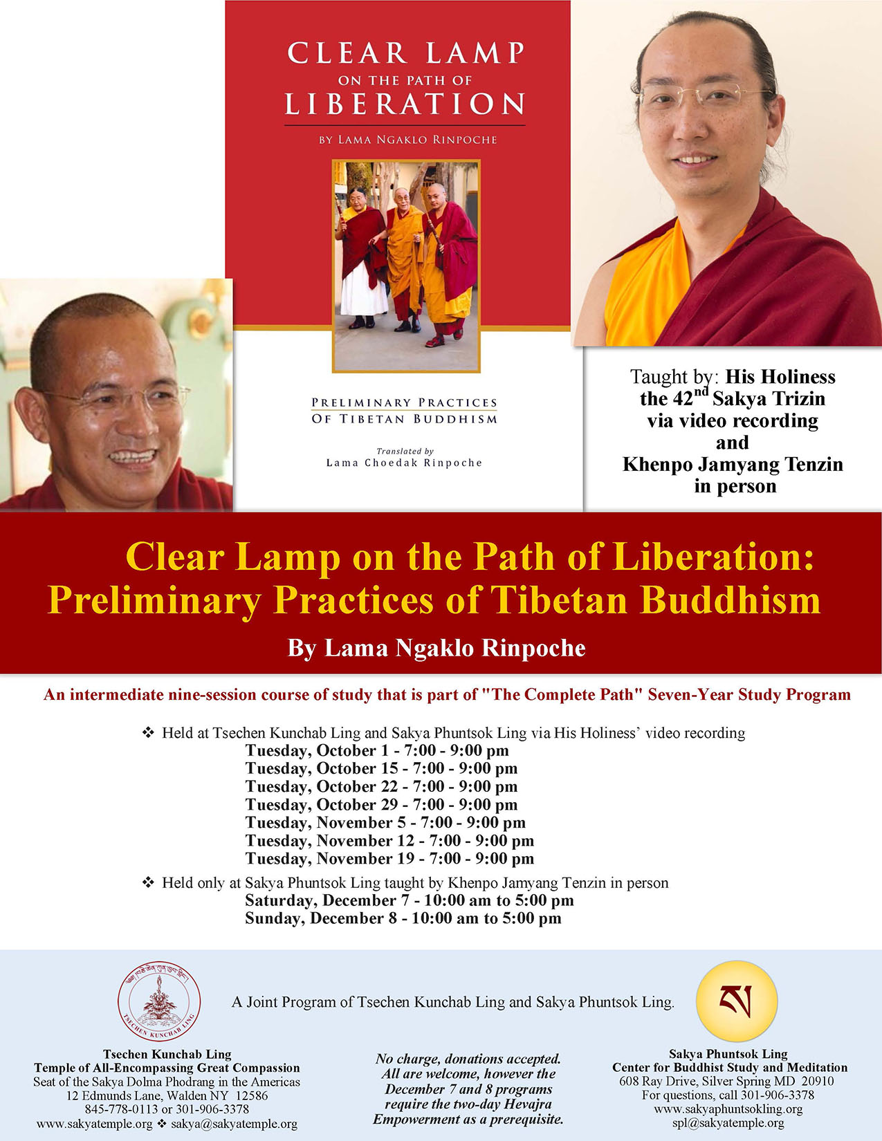 Clear Lamp on the Path of Liberation Flyer - Oct- Dec - SPL version - reduced